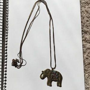 Accessories - Golden elephant necklace
